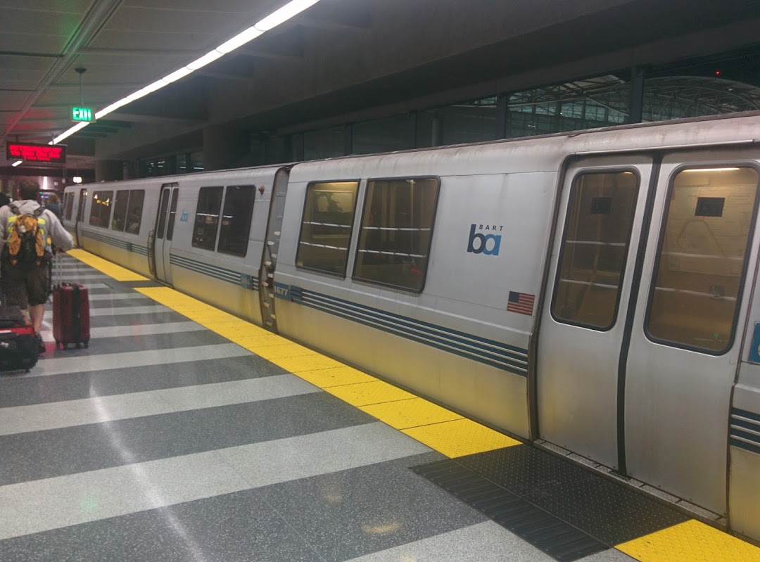 BART trains look like they were inspired by the Apollo program from the 1960s.
